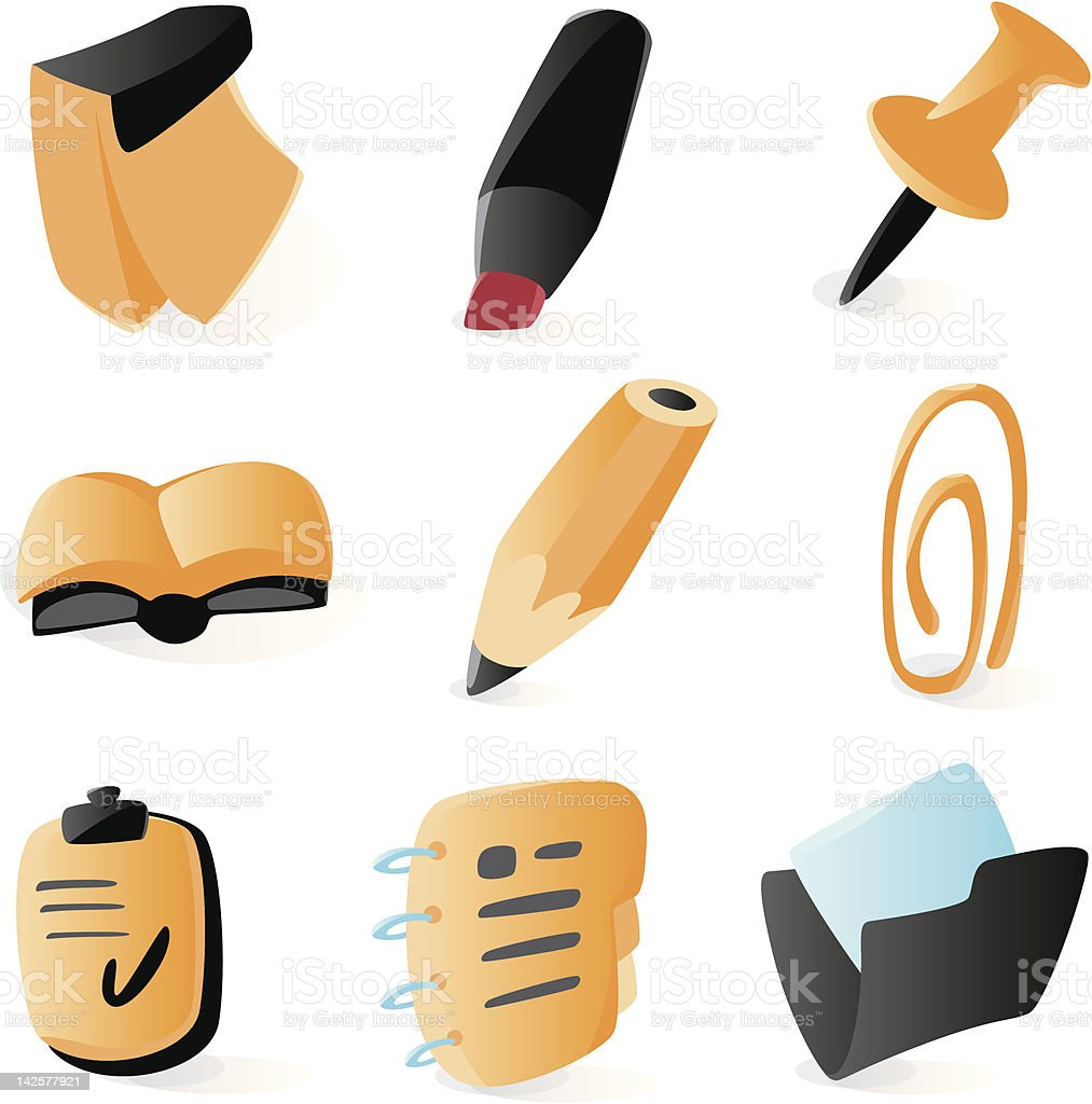 Smooth planning and schedule icons royalty-free stock vector art
