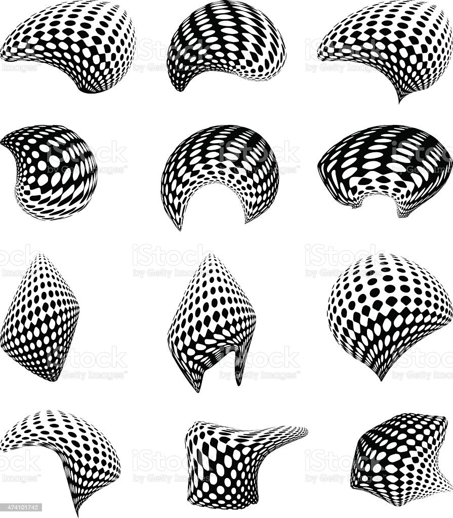 Smooth Shapes with Smooth Shapes vector art illustration