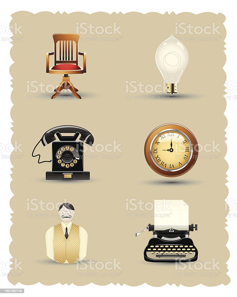 Smooth Silk Series: Vintage Office royalty-free stock vector art