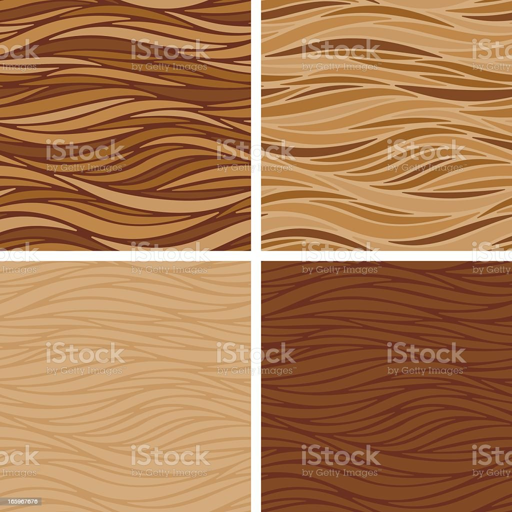 Smooth Stripes Coffee Textures - Seamless vector art illustration