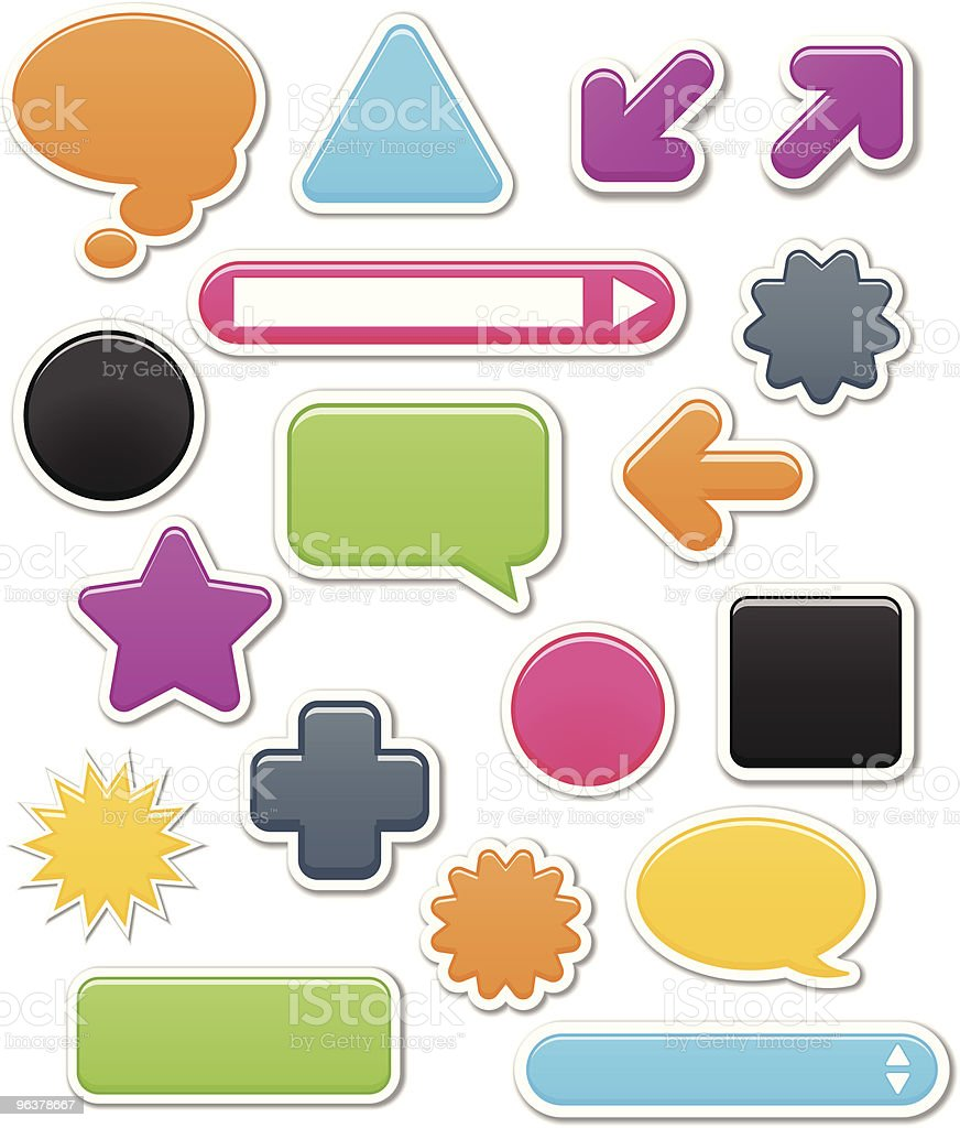 Smooth Web Elements royalty-free stock vector art