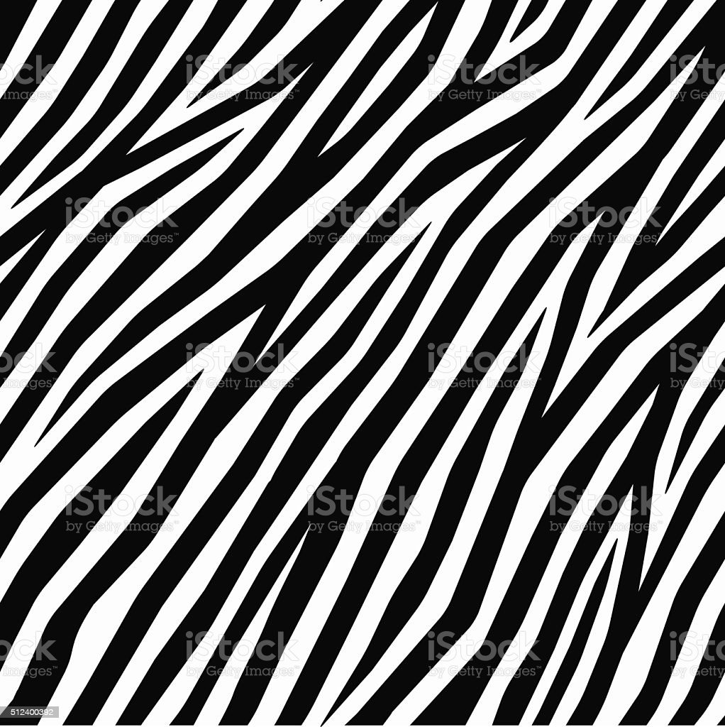 Smooth Zebra Print vector art illustration