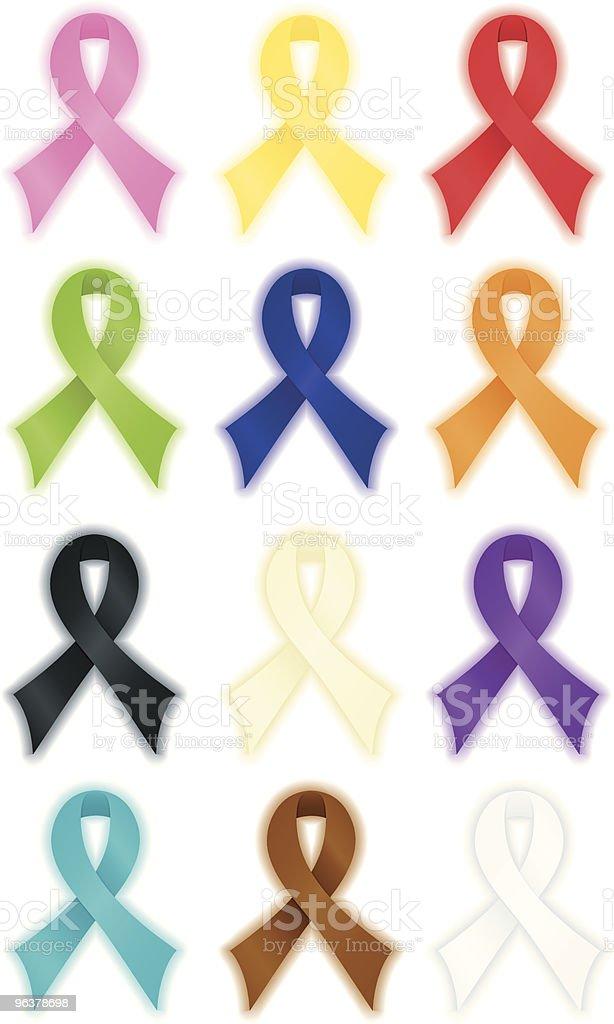 Smoth Awareness Ribbons vector art illustration