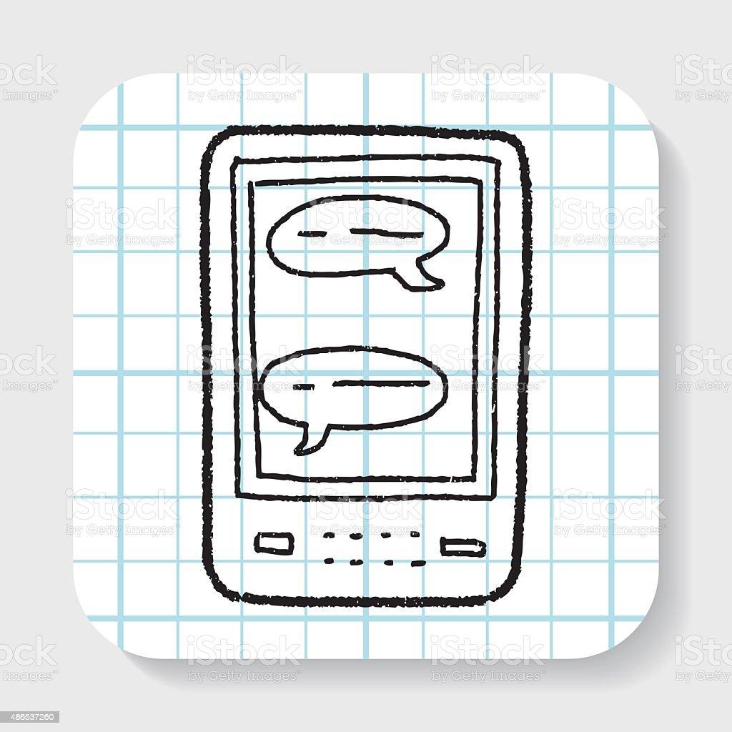 sms doodle vector art illustration