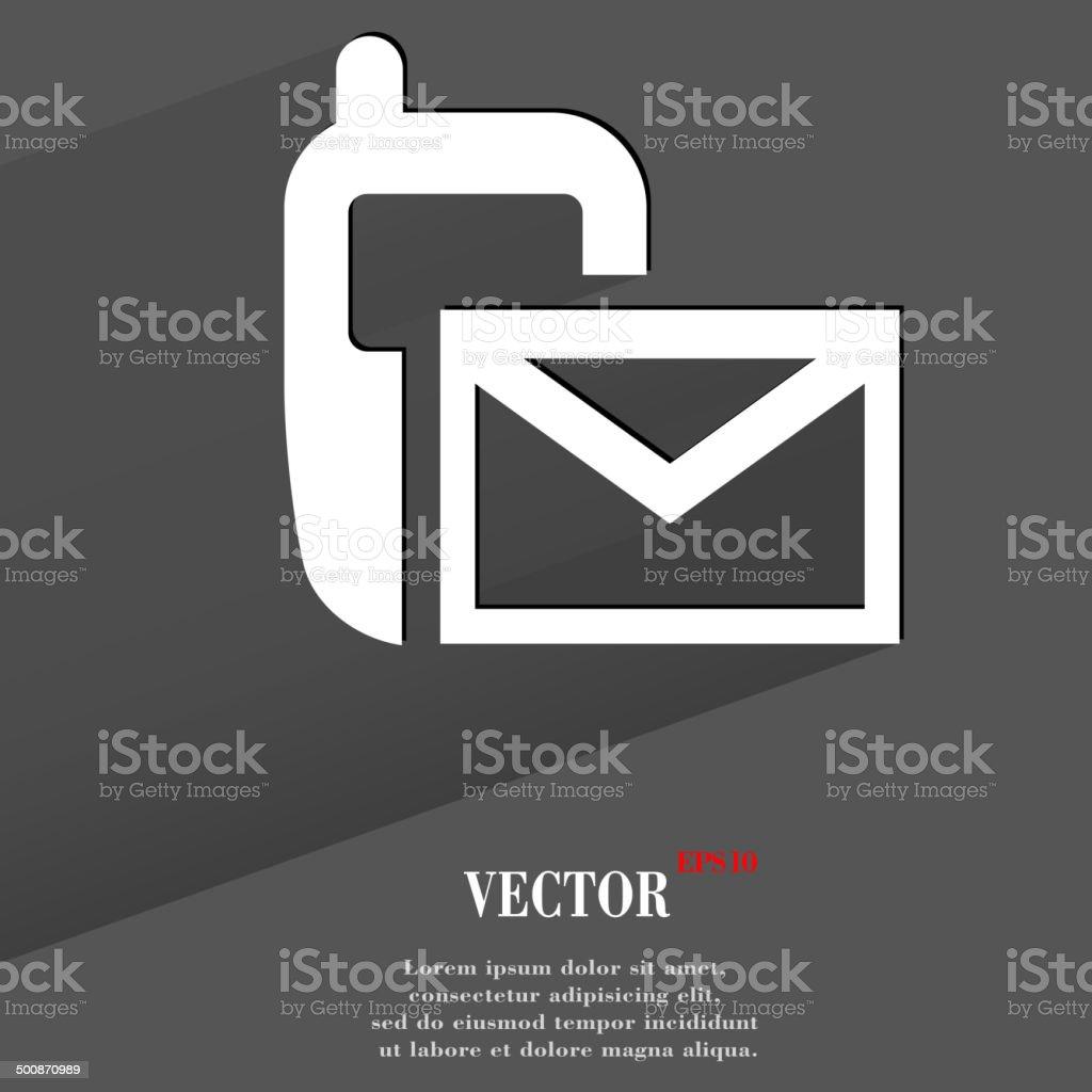 Sms icon. flat modern design royalty-free stock vector art