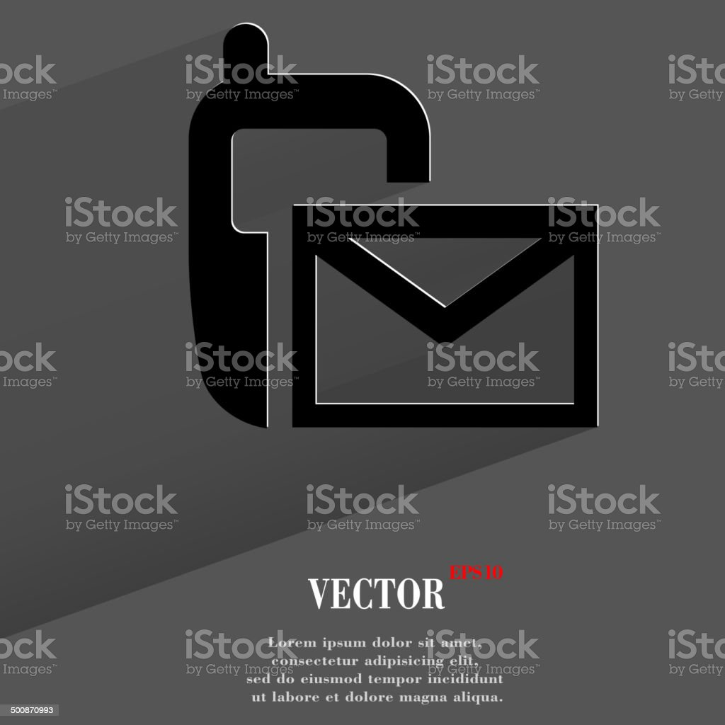 Sms icon. flat modern design royalty-free stock vector art