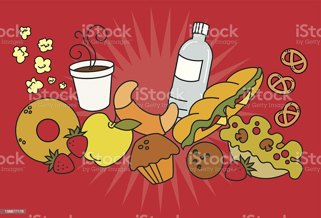 Snack foods royalty-free stock vector art