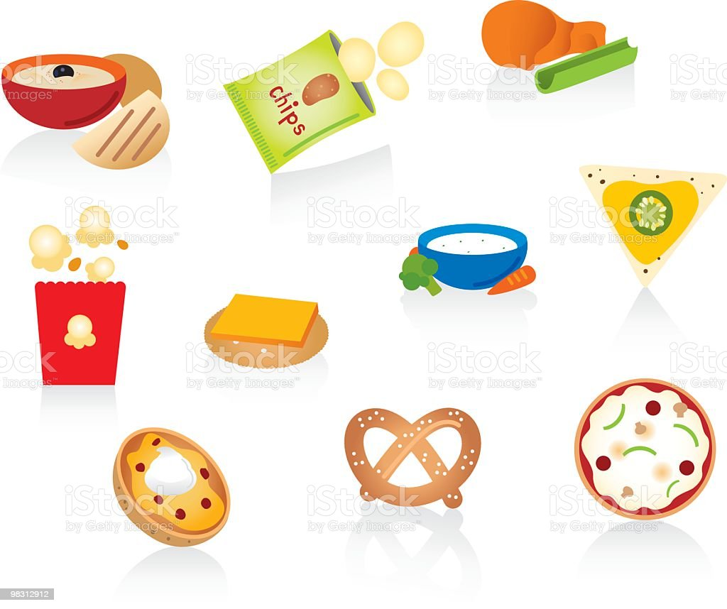 Snack Foods vector art illustration