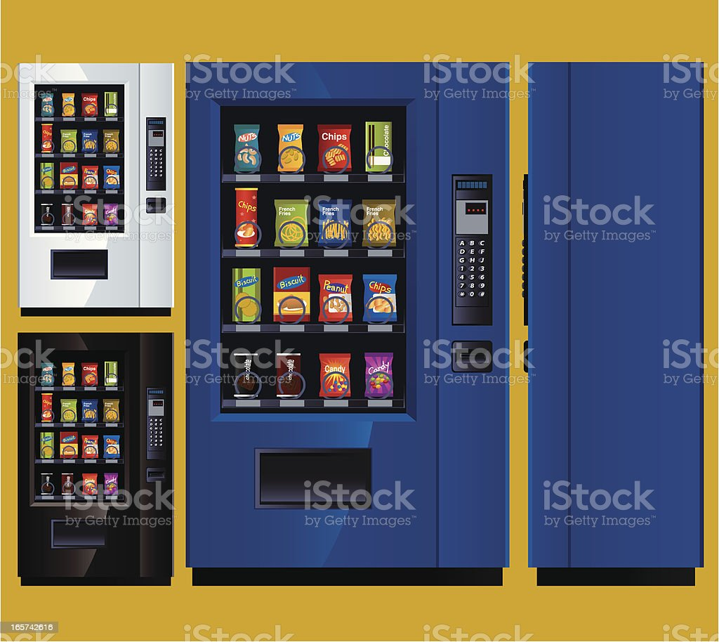 Snack Vending Machine vector art illustration