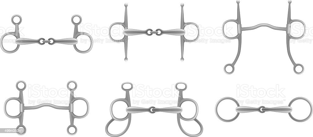 Snaffle set vector art illustration