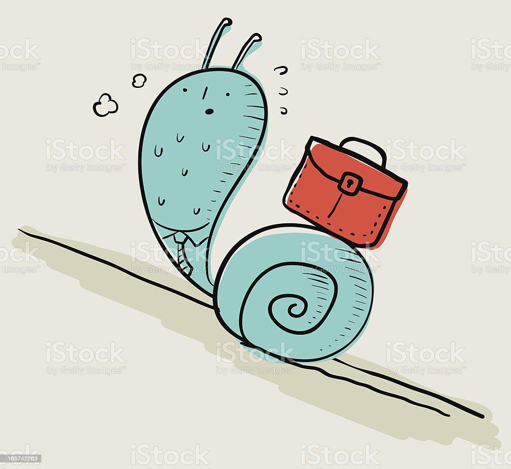 Snail Businessman royalty-free stock vector art