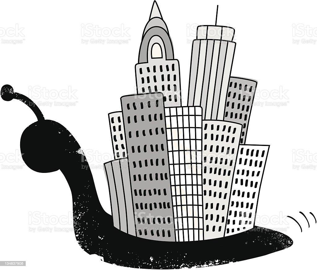 Snail city royalty-free stock vector art