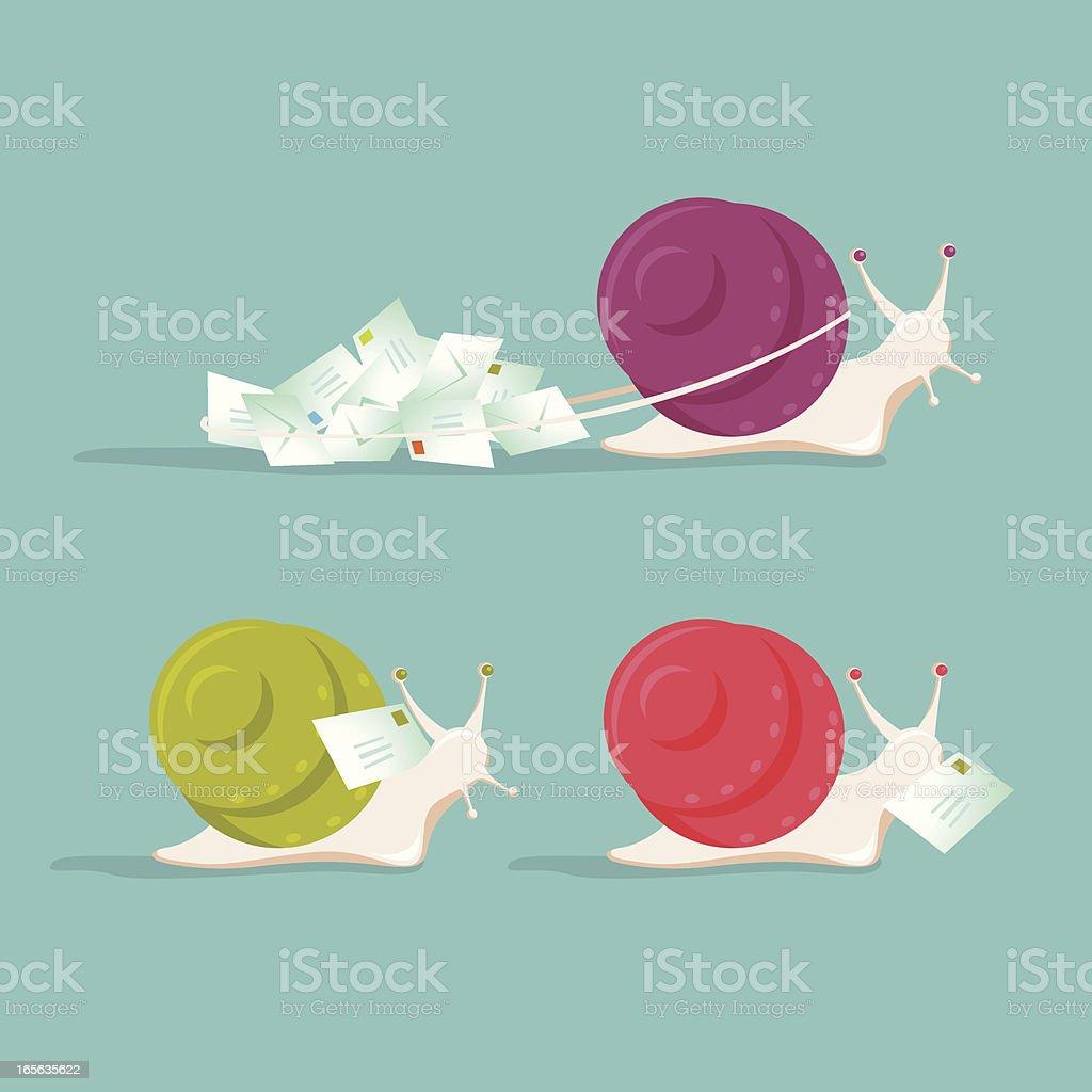 snail mail vector art illustration