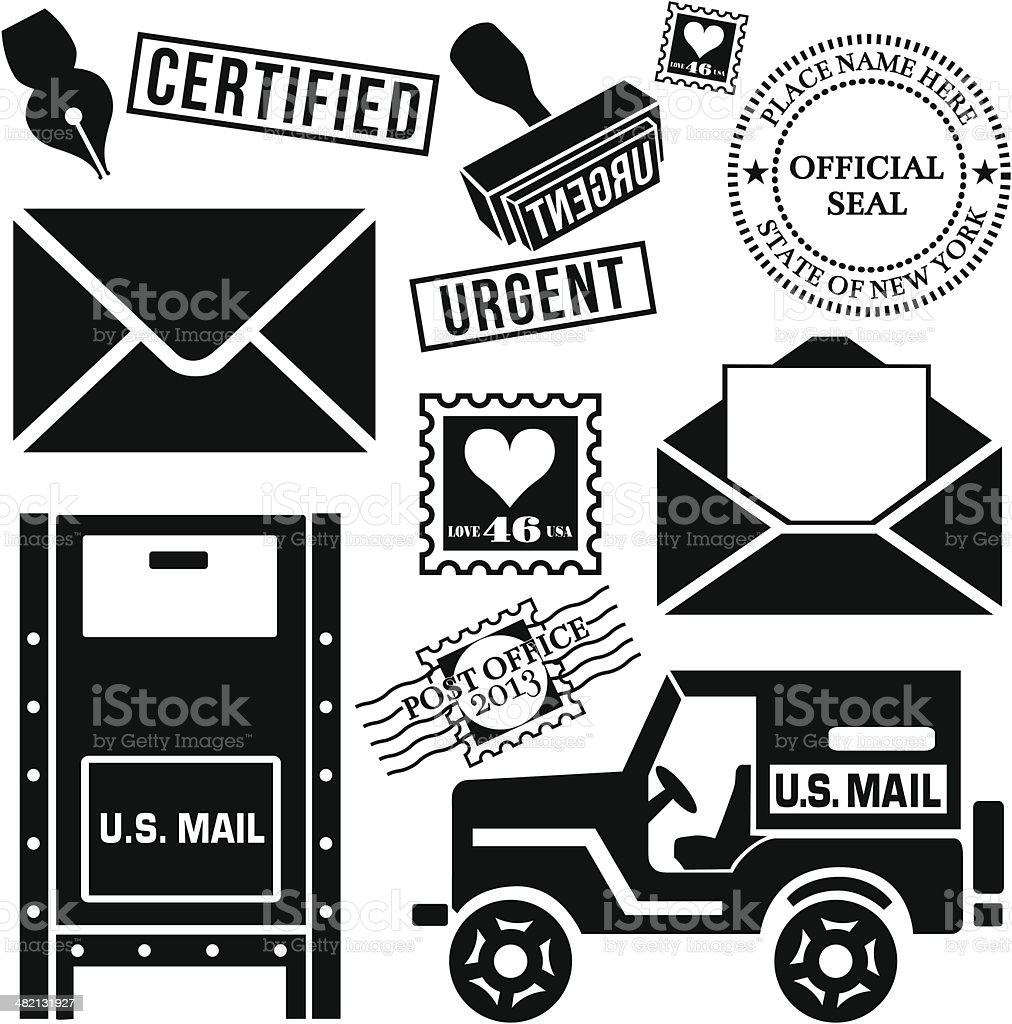 snail mail royalty-free stock vector art