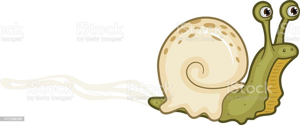 Snail Trail vector art illustration