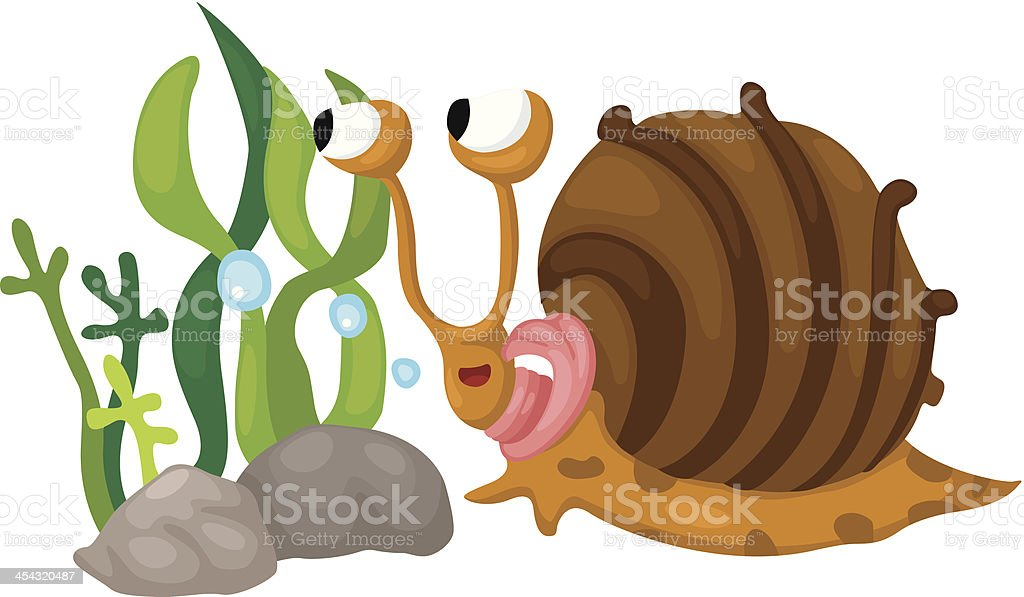 snail underwater royalty-free stock vector art