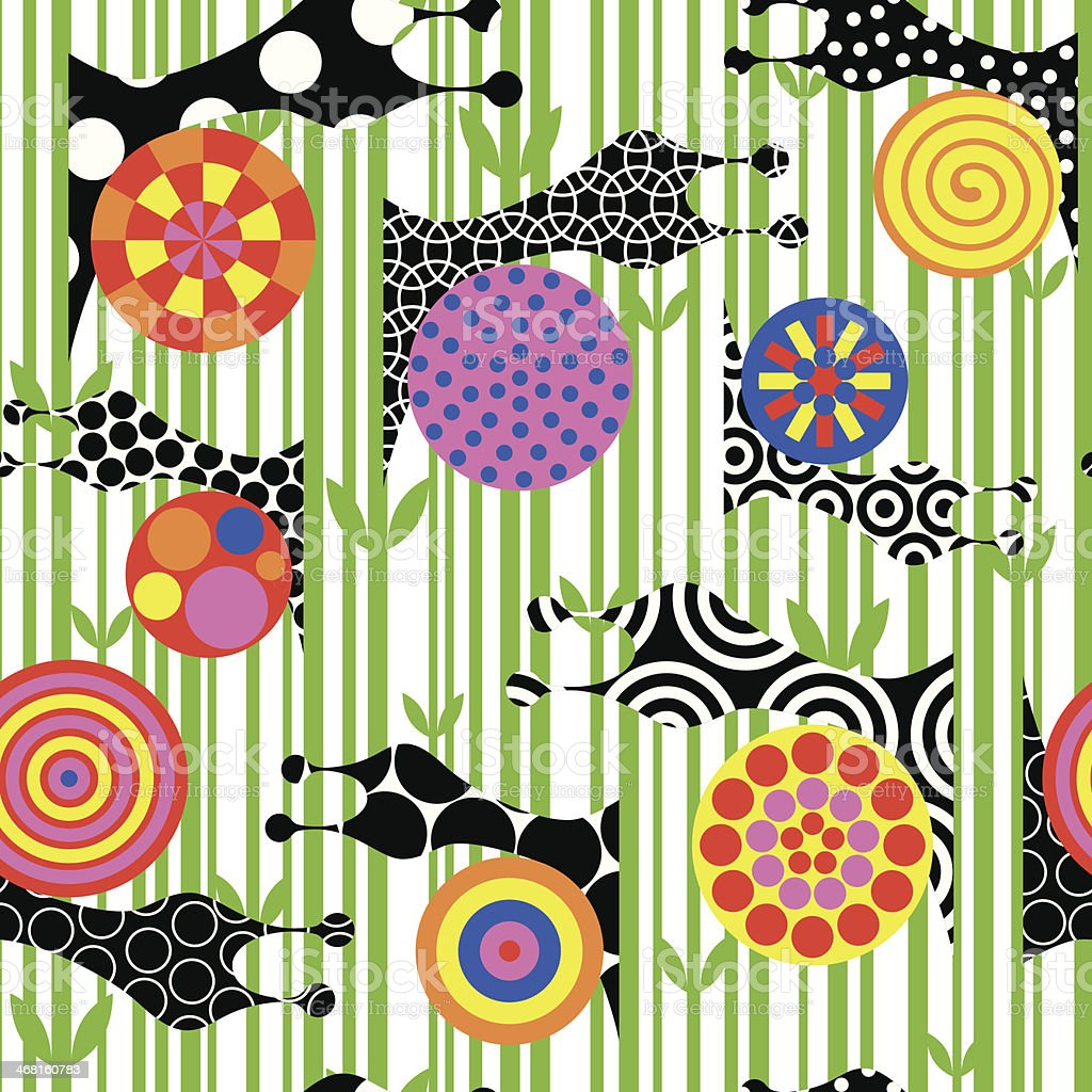 Snails vector pattern. vector art illustration