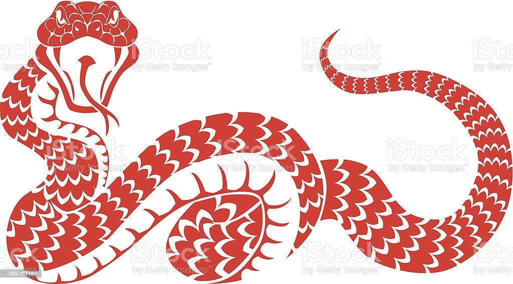 snake attack vector art illustration