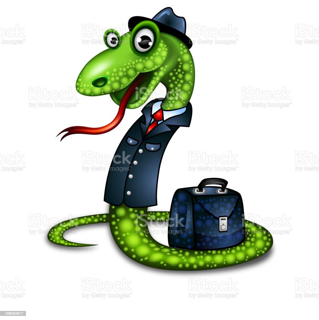 Snake boss vector art illustration