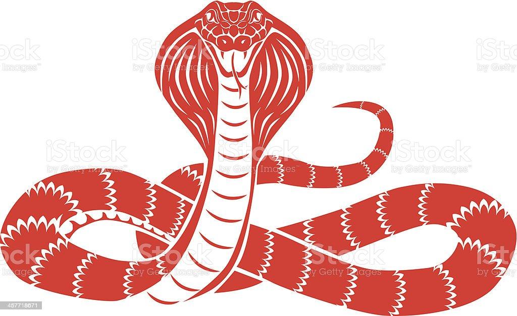 snake cobra front vector art illustration