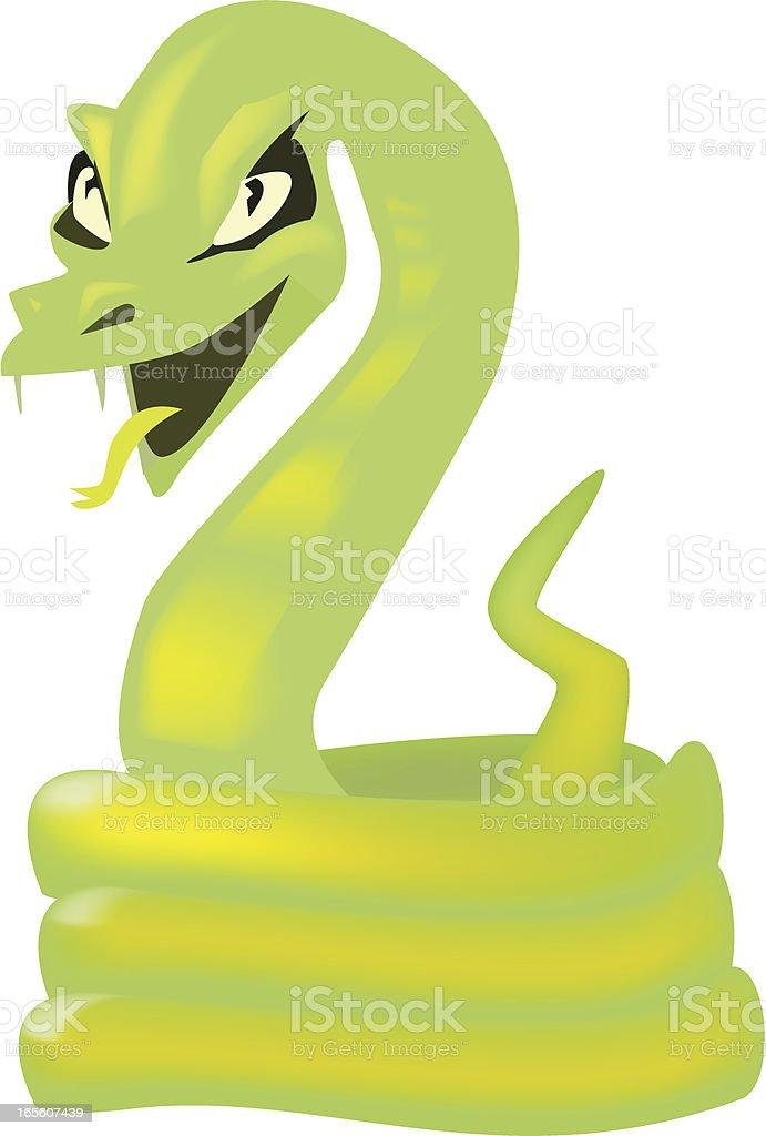 Snake Hissing royalty-free stock vector art