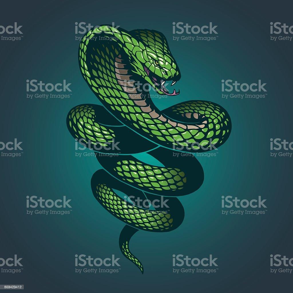 Snake illustration vector art illustration