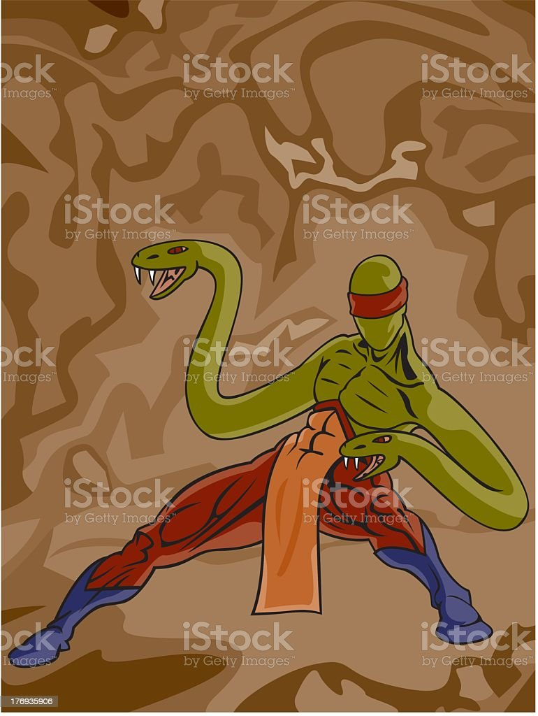 Snake Man royalty-free stock vector art