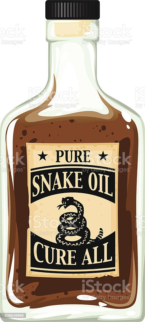 snake oil bottle vector art illustration