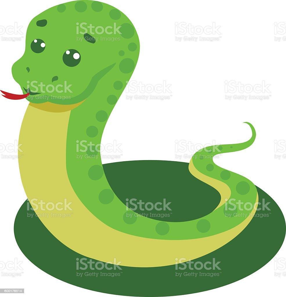 Snake On A White Background Vector Illustration vector art illustration