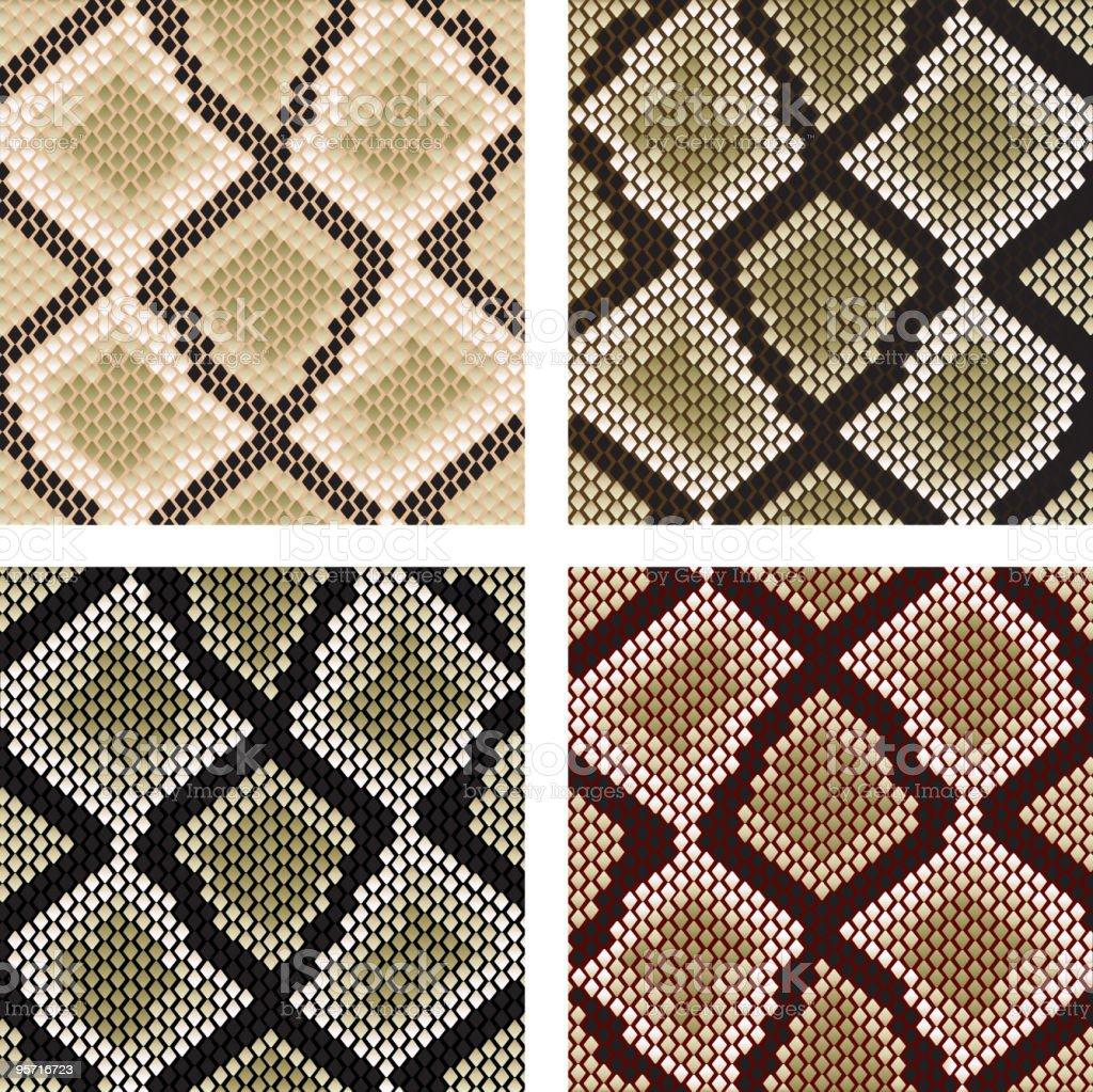 Snake skin patterns royalty-free stock vector art