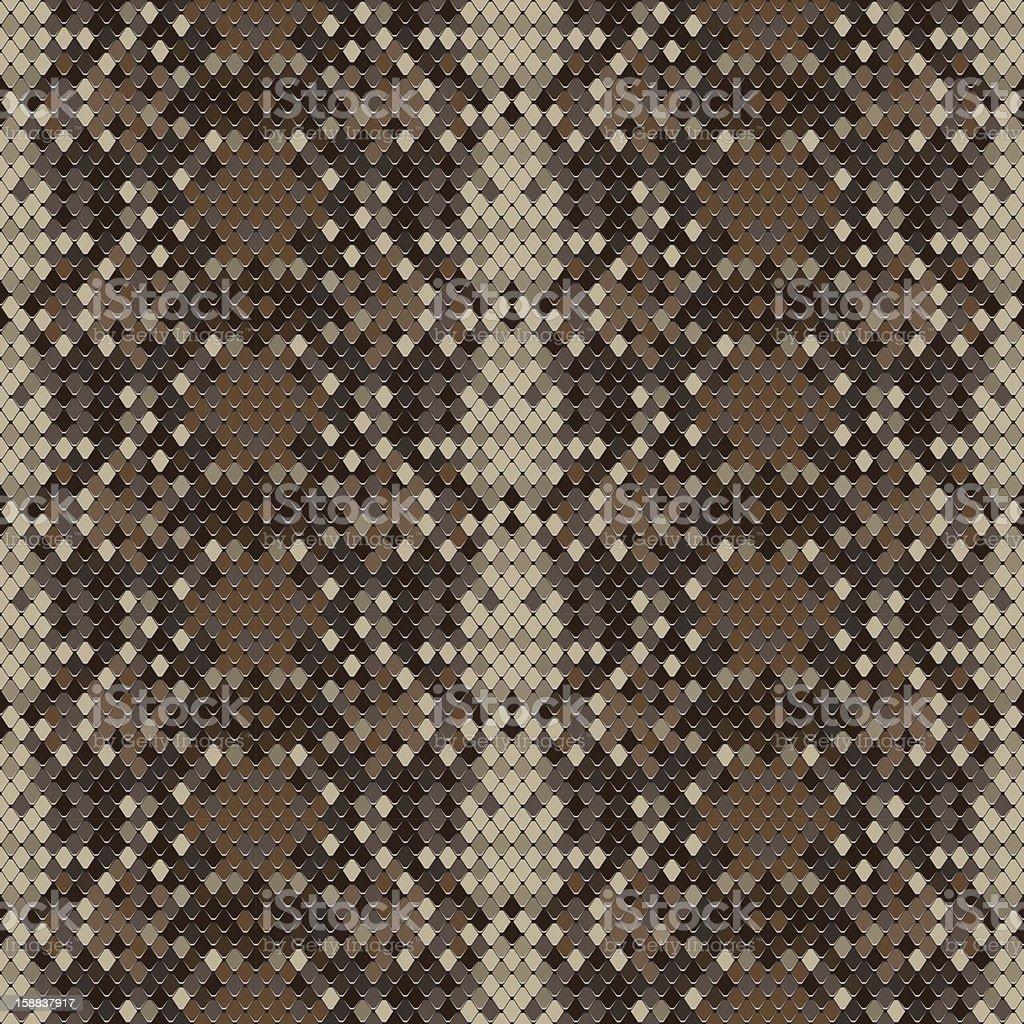 Snake skin reptile seamless pattern, vector illustration. vector art illustration