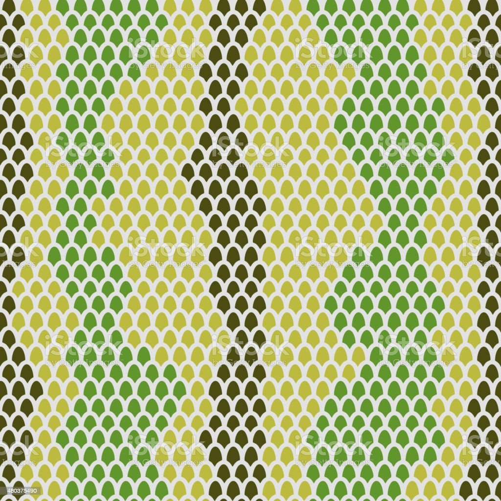 Snake skin seamless pattern. Vector background Leather  reptiles vector art illustration