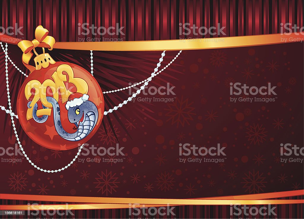 Snake - The symbol of  New Year 2013. royalty-free stock vector art