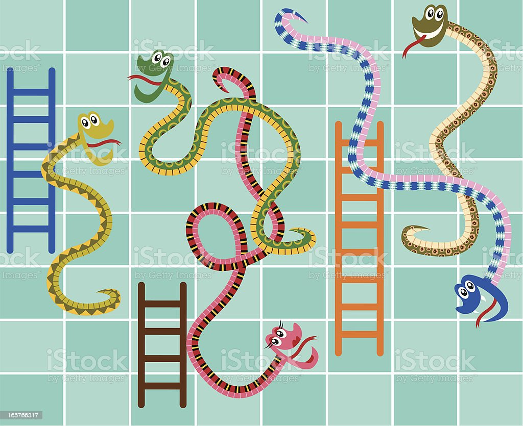 Race track printable board games - Snakes And Ladders Board Game Royalty Free Stock Vector Art