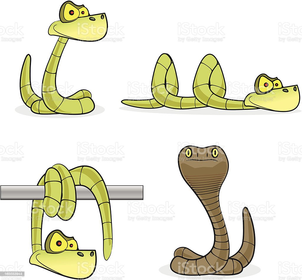 Snakes Cartoon Collection royalty-free stock vector art