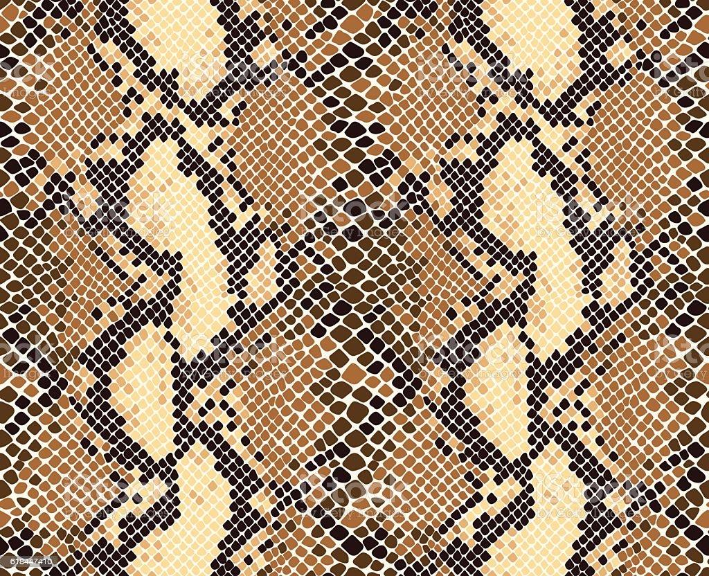 Snakeskin Pattern vector art illustration