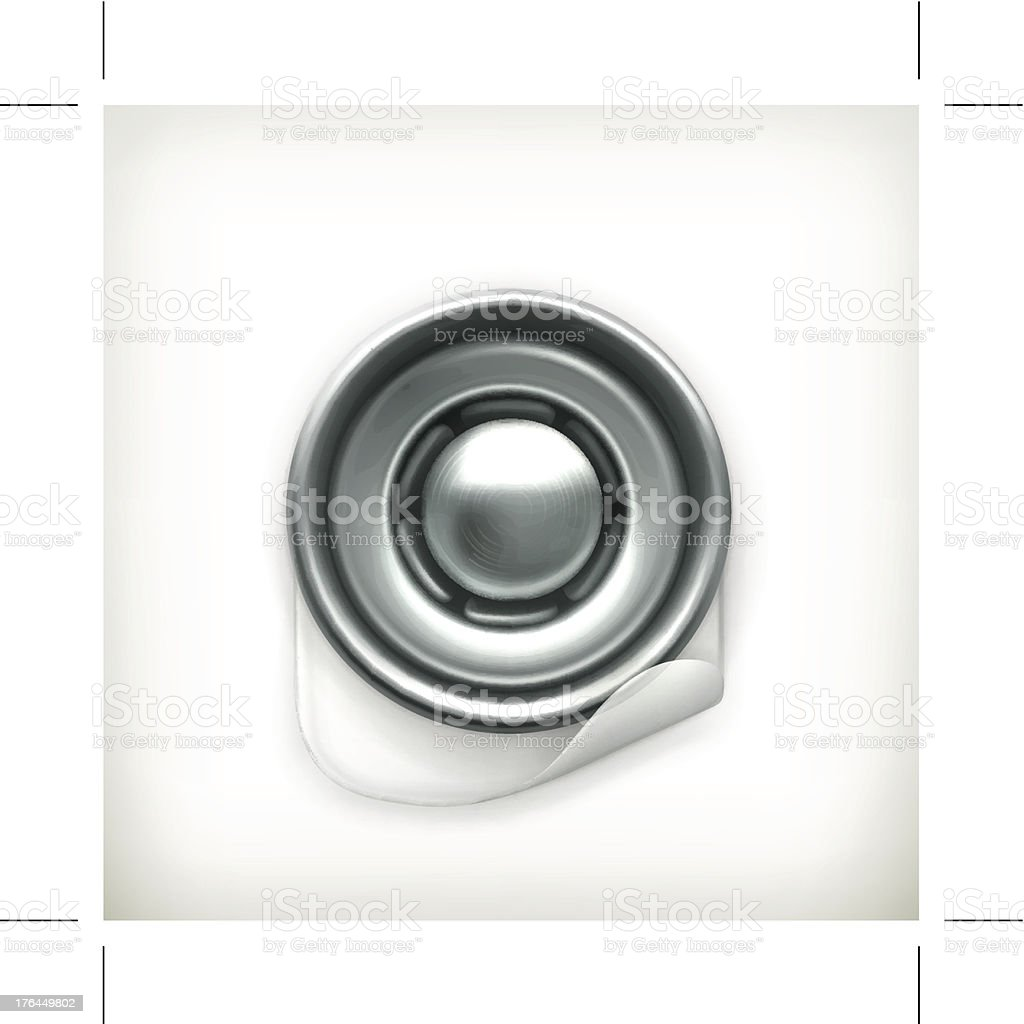 Snap fastener icon royalty-free stock vector art