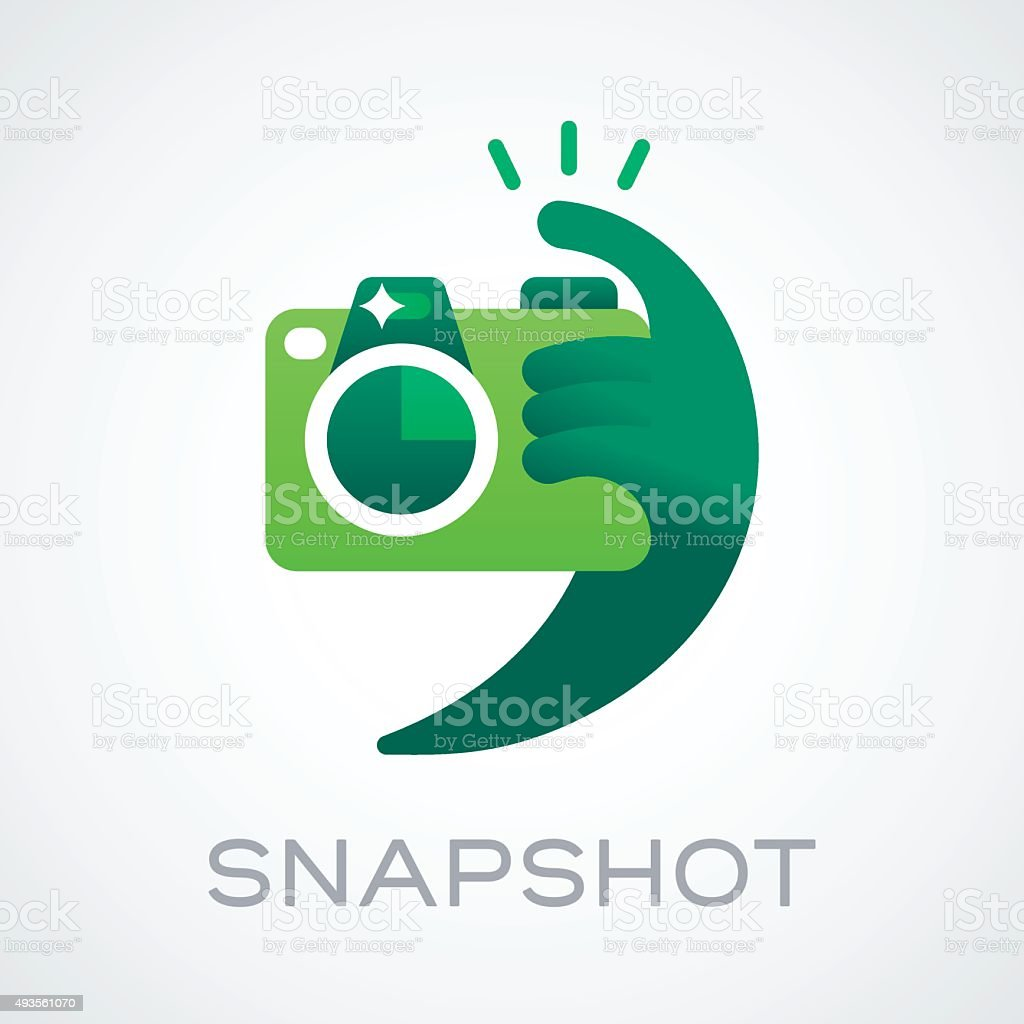 Snapshot Taking Pictures vector art illustration