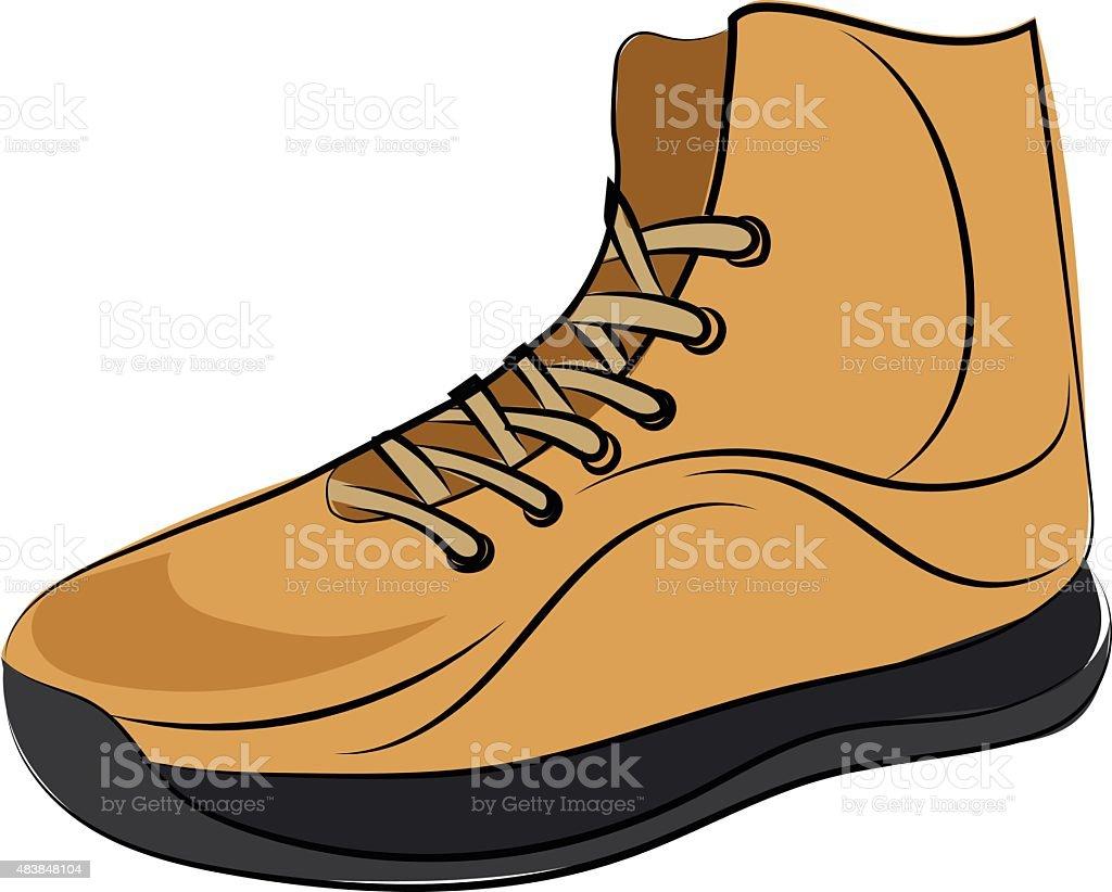 Sneaker Colored Sketchy Vector Icon vector art illustration