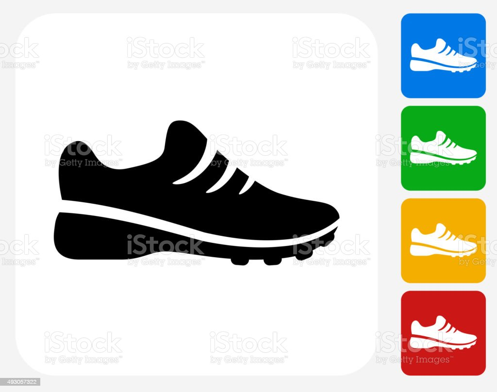 Sneakers Icon Flat Graphic Design vector art illustration