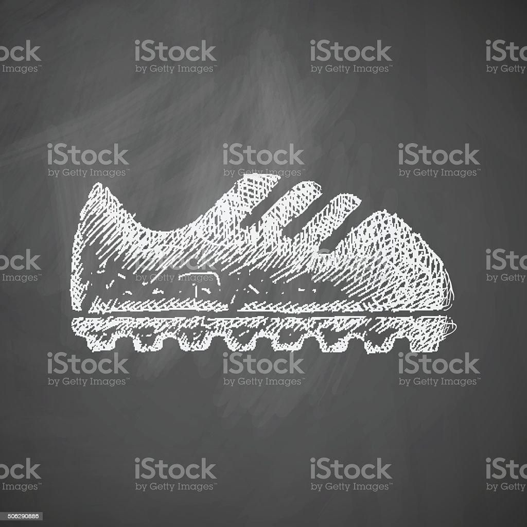 sneakers icon vector art illustration