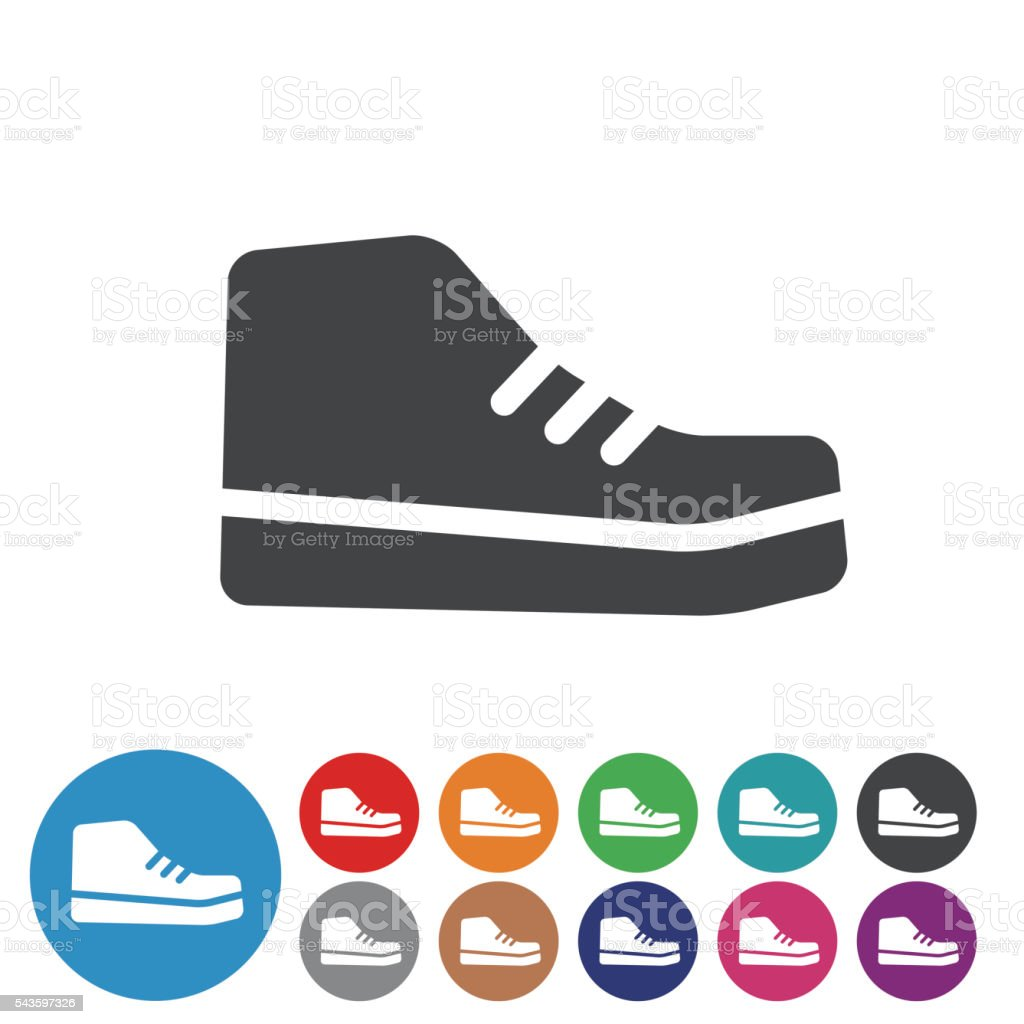 Sneakers Icons - Graphic Icon Seriesa vector art illustration
