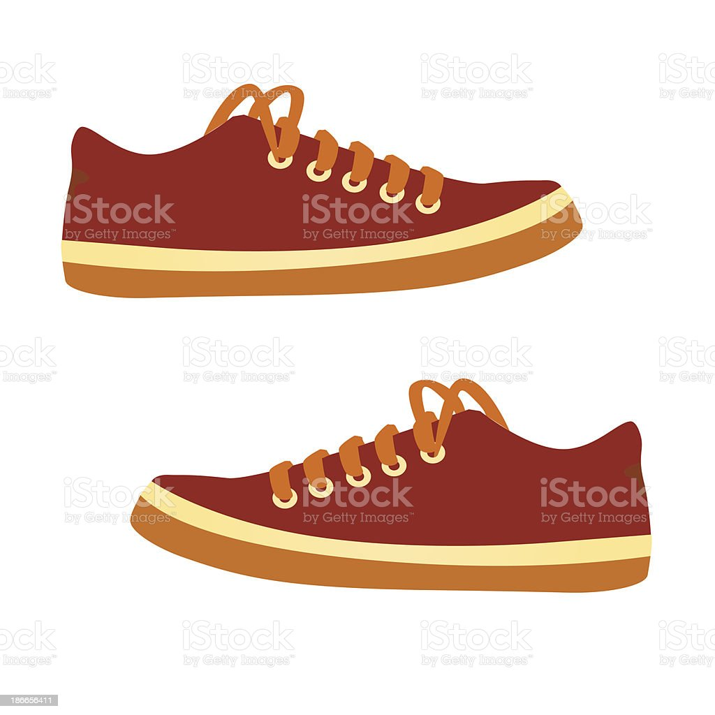 sneakers. Vector cartoon. vector art illustration