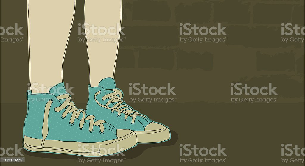 Sneakers with copy-space royalty-free stock vector art