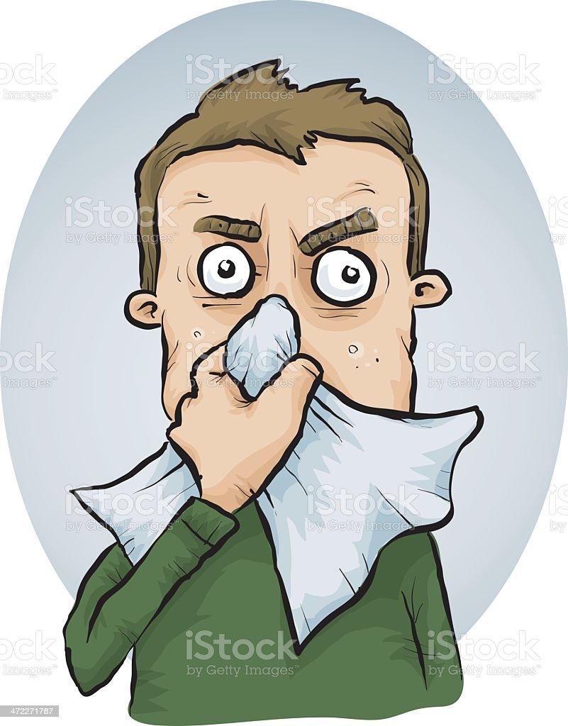 Sneeze vector art illustration