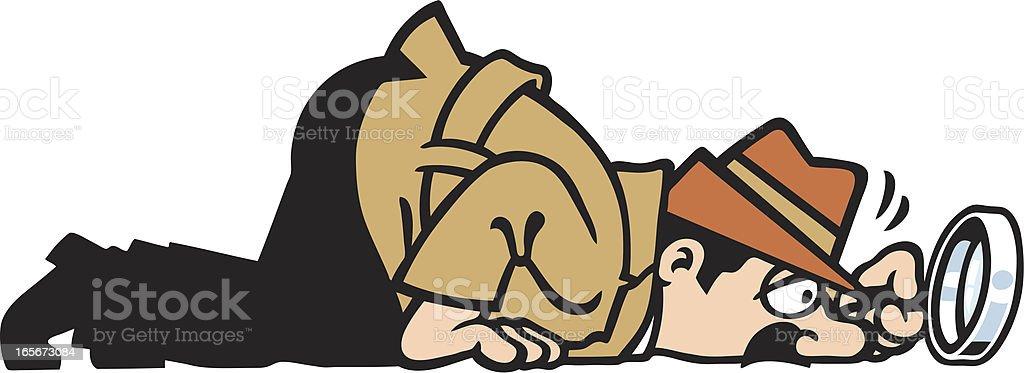 sniff vector art illustration