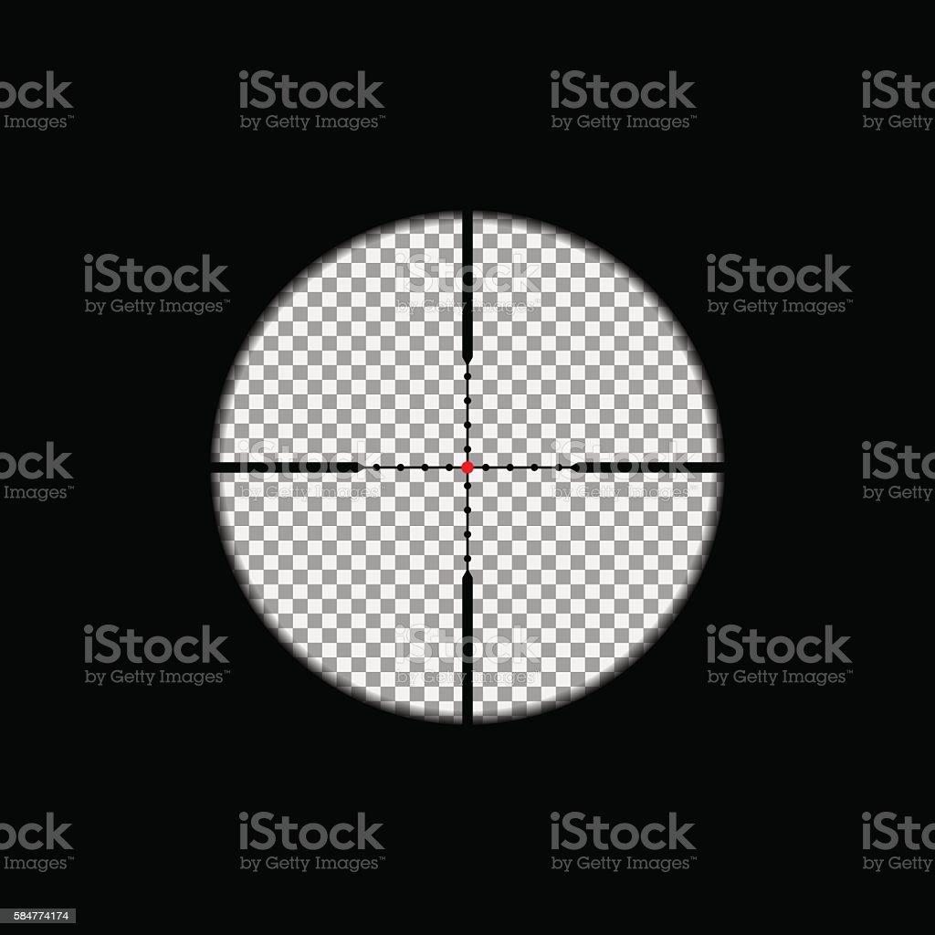 Sniper scope overlay vector art illustration