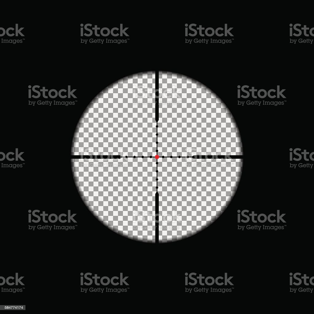 Sniper scope overlay vector art illustration