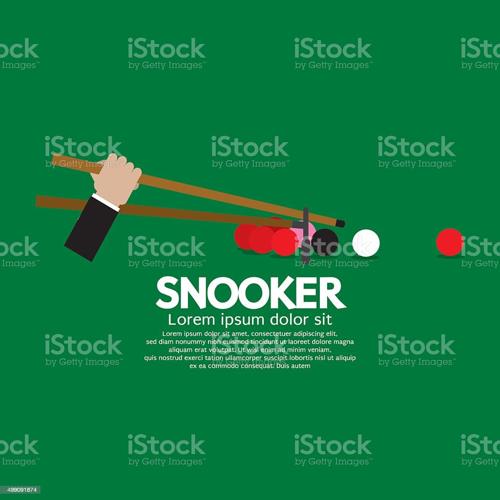 Snooker Competition. vector art illustration