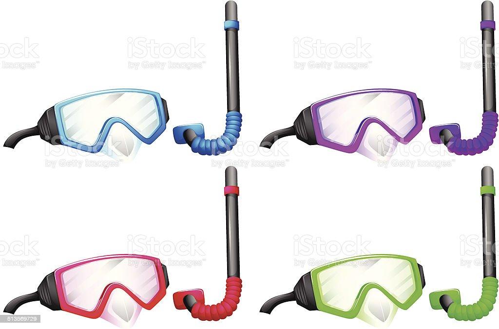 Snorkel device vector art illustration
